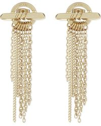 Maje | Metallic Chain Earrings, Women's, Gold | Lyst