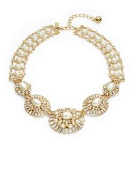 kate spade new york | Metallic Fine Day Faux Pearl And Crystal Statement Neckalce | Lyst