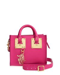 Sophie Hulme - Pink Leather Box Crossbody Bag - Lyst