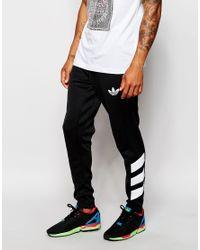 Lyst - adidas Originals Skinny Trackpants Ab7498 in Black for Men ec48cdd514f4