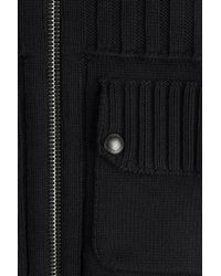 Belstaff - Black Macalister Zipped Cardigan for Men - Lyst