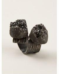 Simona Tagliaferri - Black Carbon Agate Ring - Lyst