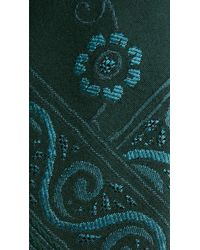 Burberry - Blue Floral Wool Silk Tie for Men - Lyst