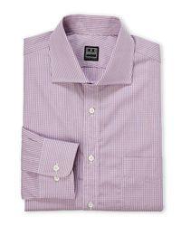 Ike Behar - Purple Lavender & White Check Woven Dress Shirt for Men - Lyst