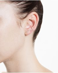 Asherali Knopfer | Metallic 18K Gold And Grey Diamond Theo Earring | Lyst
