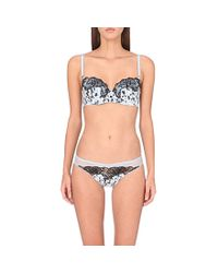 Stella McCartney | Black Ellie Leaping Balcony Bra | Lyst