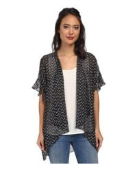 BCBGeneration | Black Ruffle Sleeve Cover-Up | Lyst