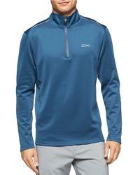 Calvin Klein | Blue Quarter-zip Athletic Pullover for Men | Lyst