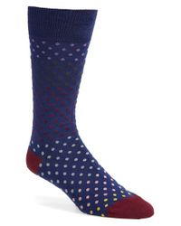 Paul Smith | Blue Dot Socks for Men | Lyst