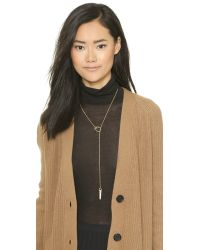Madewell | Metallic Pave Whistle Pendant Necklace - Vintage Gold | Lyst