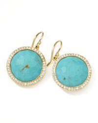 Ippolita | Metallic Gold Rock Candy Lollipop Diamond Turquoise Earrings | Lyst