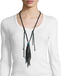 Johnny Was - Black Delia Long Necklace W/ Tassel - Lyst