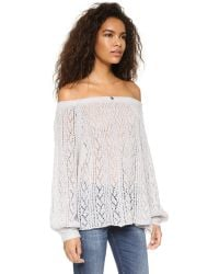 Free People | Gray Lights Will Shine Pullover - Heather Grey | Lyst