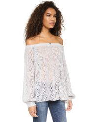 Free People - Gray Lights Will Shine Pullover - Heather Grey - Lyst