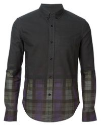 Band of Outsiders - Black Faded Plaid Shirt for Men - Lyst