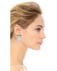 Iosselliani | Metallic Fringe Earrings - Silver | Lyst