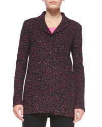 St. John - Black Paint-fleck Tweed Knit Jacket - Lyst