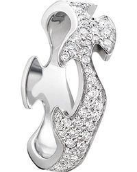 Georg Jensen - Fusion 18ct White-gold And Diamond Ring - Lyst