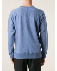 Soulland - Blue 'Capitals' Sweatshirt for Men - Lyst