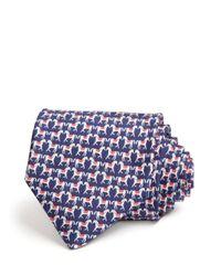Ferragamo - Blue Zingaro Horses Classic Tie for Men - Lyst