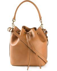 Saint Laurent - Brown Emmanuelle Medium Calf-Leather Bucket Bag - Lyst