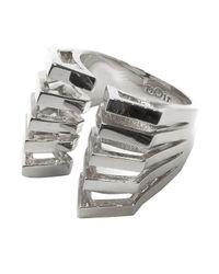 Noir Jewelry - Metallic Valerie Caged Ring - Lyst