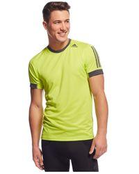 Adidas | Yellow Supernova Climacool T-shirt for Men | Lyst