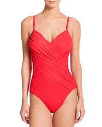 Gottex | Red One-piece Lattice Swimsuit | Lyst