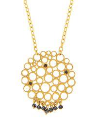 Gurhan | 24k Black Diamond Lace Pendant Necklace | Lyst