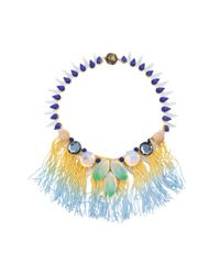 Tataborello | Blue Officina Fringes Necklace | Lyst