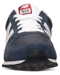 New Balance - Blue Men's 420 Casual Sneakers From Finish Line for Men - Lyst