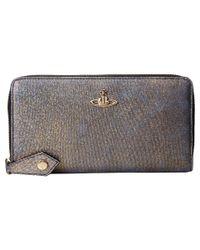Vivienne Westwood - Metallic Glitter Zip-Around Wallet - Lyst