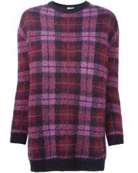 P.A.R.O.S.H. - Purple 'lacheck' Sweater - Lyst