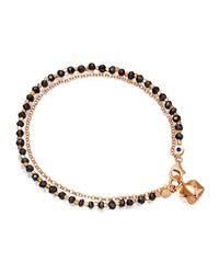 Astley Clarke - Black Spinel Little Parcel Friendship Bracelet - Lyst