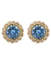Ted Baker | Black Sully Swarovski Crystal Stud Earrings | Lyst