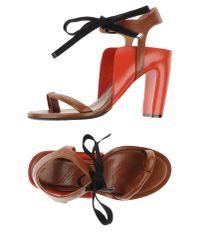 Maison Margiela - Brown Thong Sandal - Lyst