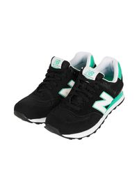 TOPSHOP | Black New Balance 574 Trainers | Lyst