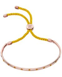 Monica Vinader | Pink Fiji Gem Bracelet | Lyst