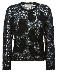 Comme des Garçons - Black Longsleeved Lace Top - Lyst
