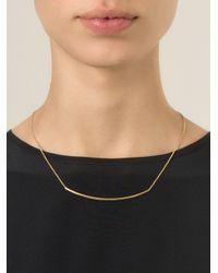 Isabel Marant - Metallic Geometric Line Necklace - Lyst