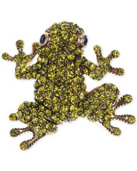 Jones New York | Gold-Tone Green Frog Pin | Lyst