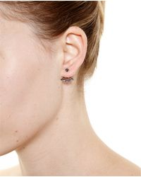 Yvonne Léon | 18K Gold And Black Diamond Stud Earring | Lyst