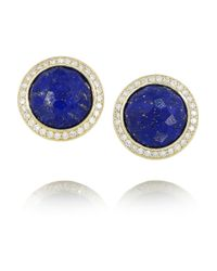 Ippolita | Blue Lollipop 18karat Gold Lapis Lazuli and Diamond Earrings | Lyst
