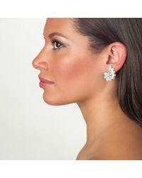 Ben-Amun   Metallic Crystal Crescent Earrings   Lyst