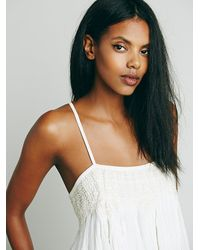 Free People | White Fp One Womens Fp One Embroidered Crochet Swing Tank | Lyst