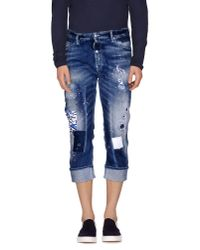 DSquared² | Blue Denim Capris for Men | Lyst