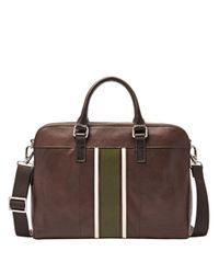 Fossil | Brown Mercer Leather Workbag0202-mbg9063 for Men | Lyst