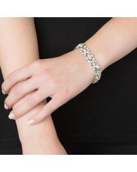 Ben-Amun | Metallic Crystal Flower Bracelet | Lyst