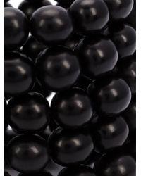 Monies | Black Round Beaded Bracelet | Lyst