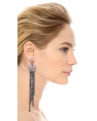 Erickson Beamon | Metallic Lake Of The Lake Crystal Fringe Earrings - Pink Multi | Lyst